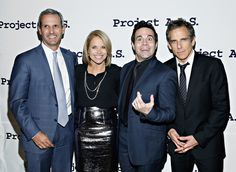 Mario Cantone was in stellar company with Ben Stiller and newlyweds Katie Couric and John Molner at the Tomorrow Is Tonight gala benefiting Project A.L.S. in NYC on Thursday.
