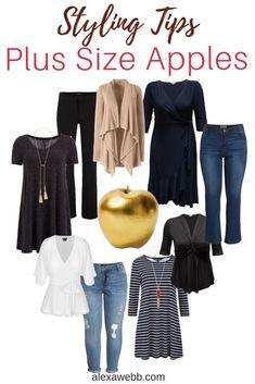 Apple Body Shape Outfits, Apple Shape Fashion, Dresses For Apple Shape, Clothes For Apple Shape, Plus Size Fashion For Women, Fashion Tips For Women, Womens Fashion, Fashion Mode, Curvy Fashion