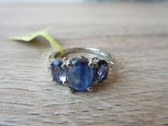 Himalayan Kyanite Lolite White Topaz Ring Platinum Over Sterling Sz 5,7,8 Option  | eBay