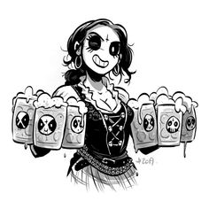 Is that a wurst in your lederhosen or are you just pleased to learn that the German edition of Belzebubs is coming out in a few months? Black Metal, Heavy Metal Art, Erma Comic, Brutal Legend, Goth Music, Dark Comics, Digital Art Fantasy, Horror Monsters, Punk Art