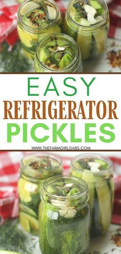 This Easy Homemade Refrigerator Dill Pickles recipe packs a lot of crunch and zesty flavor. There is no canning involved in this easy refrigerator pickle recipe. This recipe is a great way to use those cucumbers you just picked from your garden or bought at your farmers' market. These refrigerator pickles are cucumbers that are pickled in a homemade brine with garlic, dill and spices. Side Recipes, Beef Recipes, Snack Recipes, Canning Recipes, Delicious Recipes, Easy Recipes, Dinner Recipes, Pickling Cucumbers, How To Pickle Cucumbers