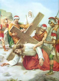Stations of the Cross as composed by Saint Alphonsus Ligouri Opening Prayer: ALL: My Lord, Jesus Christ, You have made this journey to die for me with unspeakable love; Images Du Christ, Pictures Of Jesus Christ, Jesus Our Savior, Jesus Is Lord, Holy Cross, Jesus On The Cross, Catholic Art, Religious Art, Catholic Online
