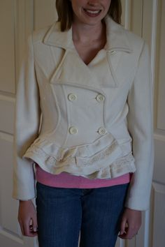 Image detail for -ruffles , lace , refashion , pea coat
