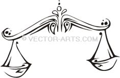 Vector Clip Art Design (Vinyl-Ready): Libra (Scales)