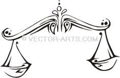 Vector Clip Art Design (Vinyl-Ready): Libra (Scales)
