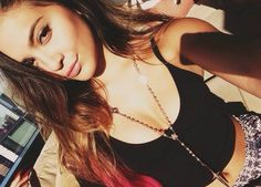♡ Kylie Jenner, Hipster, Chain, Tank Tops, My Style, Hair Styles, Pretty, How To Wear, Beauty