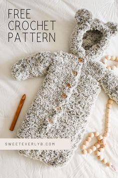 Baby Sweater Patterns, Crotchet Patterns, Crochet Blanket Patterns, Baby Blanket Crochet, Crochet Bunting Pattern, Crochet Baby Hats Free Pattern, Crochet Baby Bonnet, Newborn Crochet, Crochet Bebe