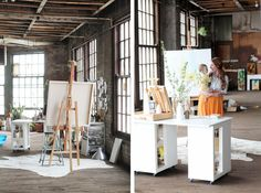 There's something undeniably romantic about an artist's studio. They're always filled with light, and paper covered in scribbles and sketches. We're instinctively drawn to these safe spaces where something incredible can materializes out of nothing.