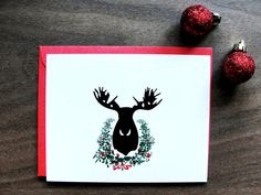 Set of 8 / Holiday Greeting Cards / Modern Winter / by punchpaper