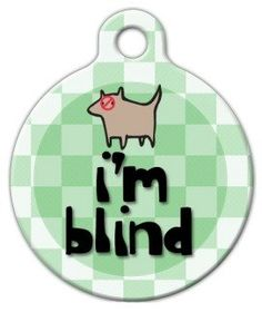 I'm Blind - Custom Pet ID Tag for Dogs and Cats - Dog Tag Art >>> Special dog product just for you. See it now! : Dog tags for pets