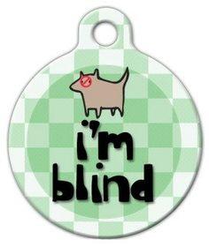 Dog Tag Art Custom Pet ID Tag for Dogs - I'm Blind - Large - 1.25 inch * For more information, visit image link.