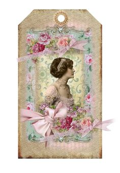 Digital collage sheet vintage Shabby Chic Tags 19 by whimsydust, $4.36