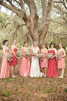 Coral and blush >> the prettiest color palette #wedding