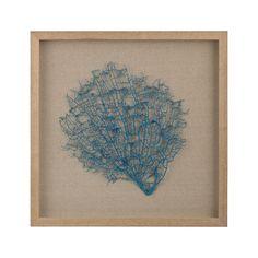 Turquoise Sea Fan Framed Wall Art