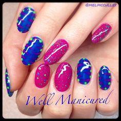 My manicure is way more fun than yours!  #wellmanicured #nails #nailartist #gelish #gel #manhattanbeach #hermosabeach #intheheartofthesouthbay #gelpolish #nailart #handpainted #artist #springtrends #beauty #zebraprint #manicure #Padgram