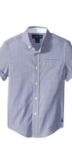 Polo Ralph Lauren Kids Performance Oxford Short Sleeve Button Down Shirt (Little Kids/Big Kids) (Royal Multi) Boy's Short Sleeve Button Up - Polo Ralph Lauren Kids, Performance Oxford Short Sleeve Button Down Shirt (Little Kids/Big Kids), 322652587001-450, Apparel Top Short Sleeve Button Up, Short Sleeve Button Up, Top, Apparel, Clothes Clothing, Gift, - Fashion Ideas To Inspire