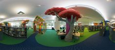 A lovely little space for children to explore the world of books! Benjamin L. Hooks Central Library, designed by Nancy Cheairs School Library Design, Kids Library, Library Room, Dream Library, Local Library, Library Art, Library Themes, Library Displays, Library Ideas