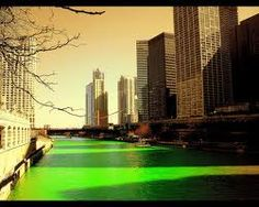 green chicago river - st. partick's day