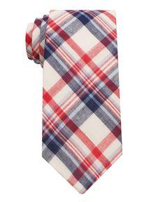 Ben Sherman Tie, Skinny Madras - Mens Ties - Macy's