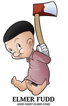 1940 - Elmer Fudd by BoscoloAndrea on DeviantArt Classic Cartoon Characters, Cartoon Tv, Classic Cartoons, Old School Cartoons, Old Cartoons, Disney Cartoons, Cool Art Drawings, Disney Drawings, Tweety