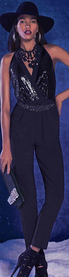 BEBE ● Sequin Bodice Jumpsuit