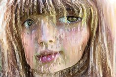 Dripping #face #woman #warped #distorted #digitalart #portrait #caricature #mobileart #icolorama...