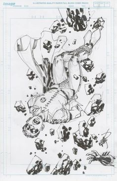 Erik Larsen - Robin - Batman to the rescue! Comic Art