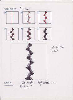 """A-Sku"" Tangle pattern by Judy Murphy 001   Flickr - Photo Sharing!"
