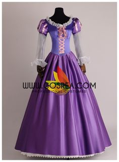 Tangled Rapunzel Tulle Sleeve Cosplay Costume