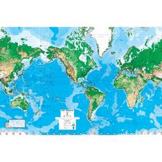 World Map Wall Mural - 8'8x13'0