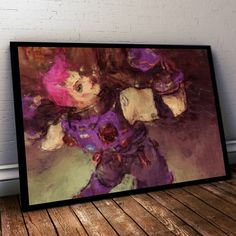Overwatch Poster. Overwatch Zarya Painting Print. Mounted Canvas available on request details in listing by LilRedDotDesigns on Etsy