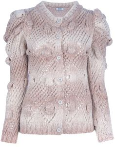 Moschino Cheap & Chic Bobble Knit Cardigan in Pink (rose) - Lyst