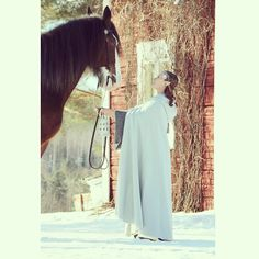 (C) Satu Jeulonen elf (me:) and a shire horse mare Fehn Emma