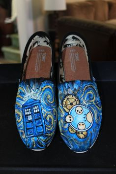 Custom Painted DOCTOR WHO Toms  Any size any shoe by Scrapcrafter, $135.00