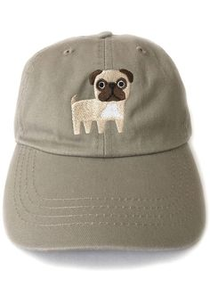 a50bb90fd2c Pug Embroidered Baseball Cap Pug Accessories
