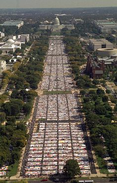 I traveled to Washington, DC in 1996 to see the AIDS Memorial Quilt on display in it's entirety....