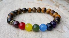 7 Chakra Bracelet Yoga Jewelry Chakra Mala Prayer by MalaLovebeads
