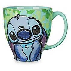 Stitch Pattern Mug | Disney Store Launch your day into orbit when you add just the right amount of chaos to your coffee, courtesy of that mischievous little blue space traveler from Disney's <i>Lilo & Stitch</i>.