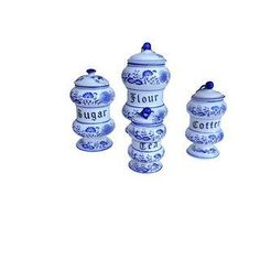 Blue Onion Kitchen Canister Set