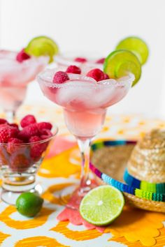 Sip, Sip, Hooray for Cinco de Mayo Raspberry Lime Margaritas