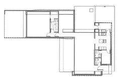 Casa Roisenfeld - Becker & Ferrari Arquitectos Ferrari, Casa Patio, Architecture Plan, Floor Plans, Cottage, Bricks, 1, Brick Architecture, Tiny Houses