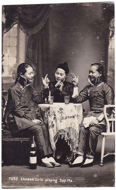 Three Chinese women playing sap ma
