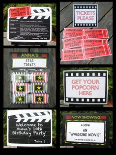 Movie Party Invitation & Printable Collection by SIMONEmadeit