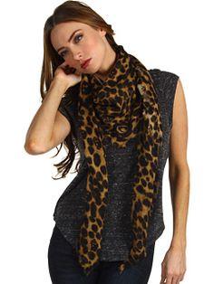 Alexander McQueen Leopard Skull scarf