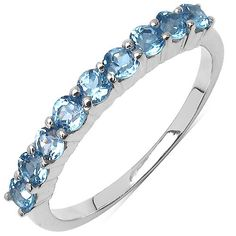 1.00 Carat Blue Topaz Sterling Ring from The Luxe Store