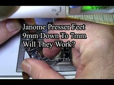 Janome Presser Feet 9mm To 7mm Will They Fit? - YouTube