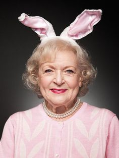 Betty White as a bunny - Hollywood Easter Photos From Vintage to Contemporary