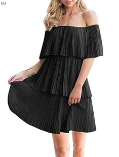 Soesdemo Shoulder Sleeveless Pleated Cocktail Winter Dresses, Casual Dresses, Summer Dresses, Women's Casual, Chic Dress, Dress Up, Beach Dresses Online, Dress Online, Off Shoulder Dresses