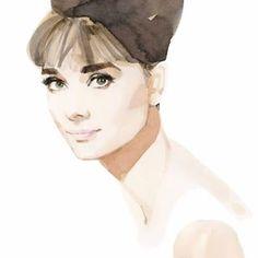 Audrey Hepburn, painting