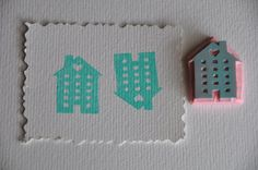 Sweet Little House Rubber Stamp by stanneswood on Etsy, $5.00